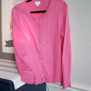 Pink Cardigan/ Old Navy sz L